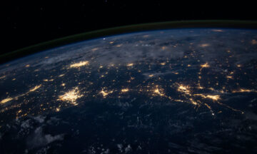 satellite image shows urban lights from space