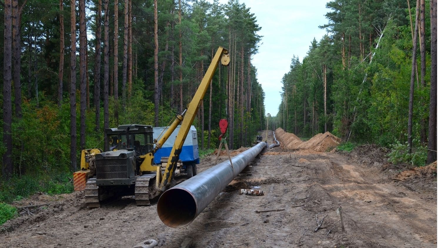 Natural pipeline construction.